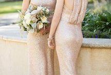 Metallic Gold Dreams Bridesmaid Dresses