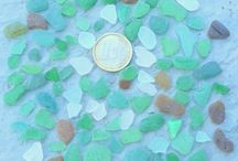 stones and sea glass