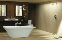 Contemporary Bathroom Ideas / Contemporary bathroom ideas refer to materials and design themes that are new and popular at the present time. So in other words Contemporary Bathroom ideas are in fashion for today. The contemporary bathroom consists of neutral colour schemes and basic shapes. This is lifted with touches of individual styling and taste.