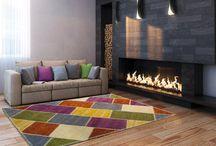 ALFOMBRAS DECORATIVAS / Ideas para la decoracion del hogar con alfombras