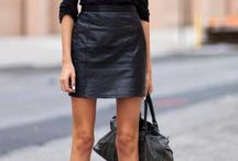 leather looks / by Anna Hart / South Molton St Style
