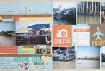 Scrapbooking: 3x4 Cards on 12x12 Pages