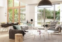 Dodatki w stylu boho, glamour i skandynawskim / Zobacz, jak przy pomocy drobnych elementów w postaci poduszek, pledów i narzut wykreować wnętrza w stylu boho, glamour czy skandynawskim.
