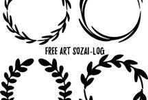 Free vector illustration / makikoが運営している素材ブログ「FREE ART SOZAI-log」のベクター素材をピックアップしています。
