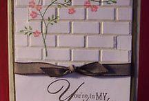Brick embossing folder ideas