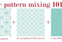 Mixing fabric patterns