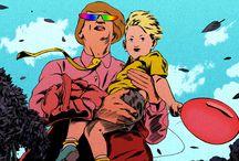 Hugo Bienvenu et Kevin Manach / illustrations, animation, architecture, décors dessinés, clip, dessin, noir et blanc, couleurs, NB, dessin animé, réaliste, japonnais, manga