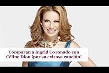 Comparan a Ingrid Coronado con Céline Dion ¡por su exitosa canción!