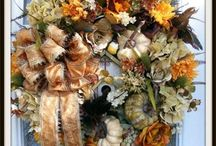 Fall Doors and Porches / Good ideas for  Fall Door Decorating or Fall Porch Decorating