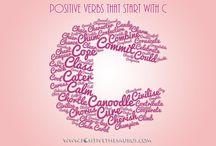 Positive Verbs / Positive Action Words / Positive verbs aka action words - Positive vocabulary www.positivethesaurus.com #PositiveVerbs #PositiveActionWords #PositiveSaurus #PositiveWords