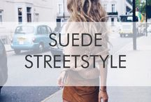 SUEDE STREETSTYLE / Our favorite street-chic looks