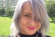 Волосы / Серебристый блонд