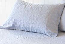Montauk Pure Linen Pillowcases / 100% Pure Linen Pillowcases by Montauk Style