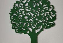 árvores artesanais