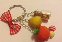 porte-clés / voila mes portes clés en pâte polymère
