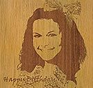 Laser Engraving Photos on Wood / Choose From Our Various Laser Engraving Photos on Wood Library Or Create Your Own Engraved Wooden Plaques.