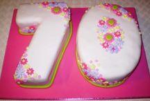 Number Seventy Cake Designs