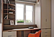 dormitor cu birou