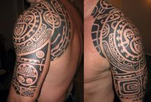 polynesian chest tattoo men