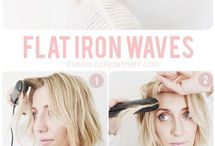 flat iorn waves hair