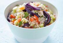 Cereali gusto estivo / Con l'arrivo della stagione calda, i primi piatti freddi a base di cereali e verdure sono particolarmente graditi... golosi, buoni e sani!