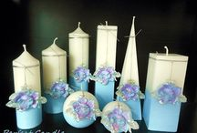 Handmade aromatic and decorative candles