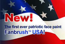 Fanbrush Nations / Fanbrush™ USA is  a new and powerful concept ! Look how easy is to facepaint american colors flag