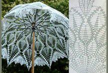 Ομπρέλες πλεκτές. / Ρομαντικες ομπρέλες.Τηλ 2221074152 υλικά οδηγίες