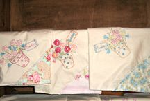 kitchen towels / kitchen decor, towels, embroidered towels, tea towels, handmade towels / by Connie Smith