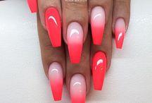 uñas rojo