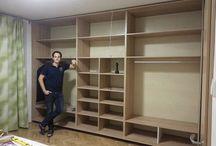 Beépitett szekrények