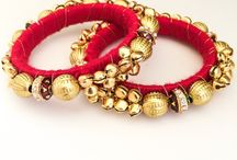 Indian Jewelry: Bangles / Showcasing the latest trends in Indian bangles available at Lashkaraa.