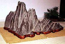 Scholar's rock and suiseki
