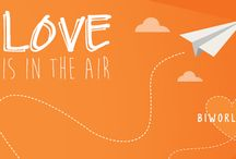 Love is in the air. Valentines 2016 / Spread the love this Valentines day and let a colleague know just how much you value them with our free paper aeroplanes!
