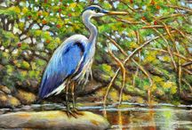 Birds in Nature Paintings / Paintings of Birds in Nature