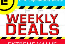 Weekly DEALS / Weekly Liquidation Deals!  EPIC Deals from A to Z!  1-844-BUY-EPIC
