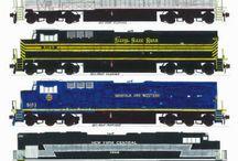 trains / Chemins de fer