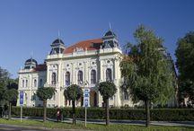 Kisújszállás Városháza park Csányi sétány / 2014-ben felújított Csányi sétány és a városháza melletti park és szökőkút.