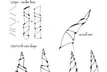 zentangle lined art