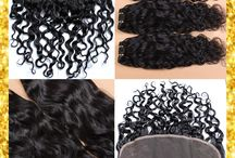 Human Hair Weft with Closure