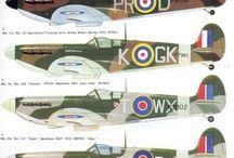 Vintage Aircraft World War 1 + 2.