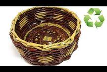 cesteria / tejido en papel y revista