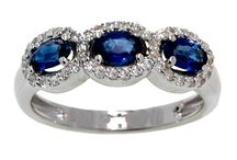 Something Blue / Sapphire and Tanzanite jewelry, rings, earrings, pendants, bracelets and bangles.