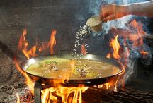 Open fire paella