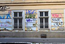 Graffidi / Street art / Katutaide / Graffideja, Tageja, katutaidetta, löydettyjä maalauksia ja maalauksellisia valokuvia.