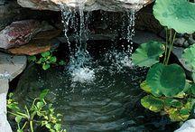 пруд,водопад