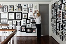 """Gallery Walls / """"When there is artwork up on the walls, the color will really make the art pop. After all, the real beauty is the artwork. The gallery is just to show it off."""" / by Gloria Dominick"""