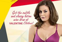 Valentine bras / Valentine Clothes gets you bras with a difference! Get comfortable classy and uniquely coloured bras only with us!