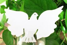 carte de verre,portye noms ,marque place colombes decoration table mariage