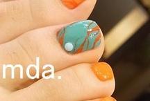 Pretty piggy nails.